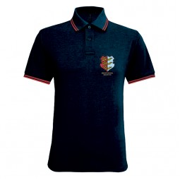Black / Red Mens Classic Fit Tipped Polo