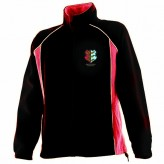 Ladies Red/Black Microfleece Jacket