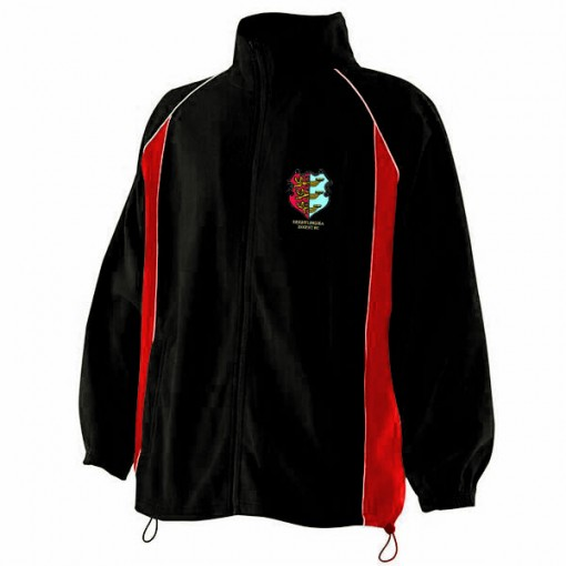 Kids Red/Black Microfleece Jacket